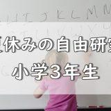 夏休み自由研究小3